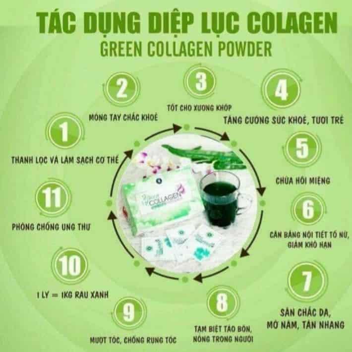 công dụng của diệp lục collagen