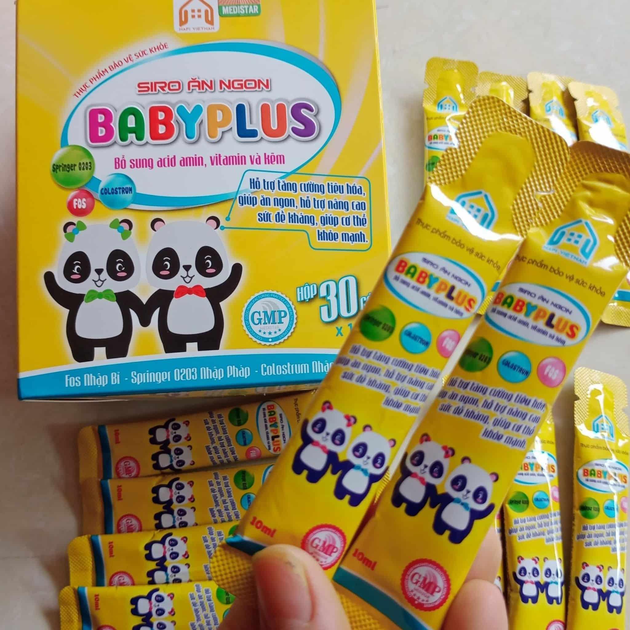 hướng dẫn cách dùng siro baby plus