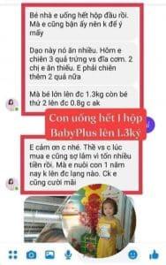 cách dùng siro baby plus